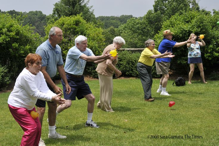 SARA GUEVARA 0531seniors Friday, May 30, 2008 First Annual Olympic Day for senior citizens at Lanier Village Estates. 50 senior citizens from age 65-85 competed in events ranging from an egg & spoon relay to a water balloon toss.